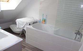 Salle de bains combles - Courbevoie