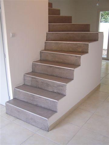 Réalisation escalier béton ciré - La Garenne Colombes